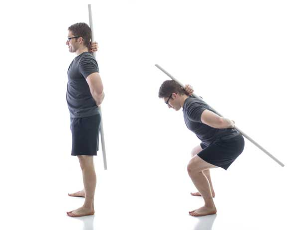Stick Squat with pvc pipe